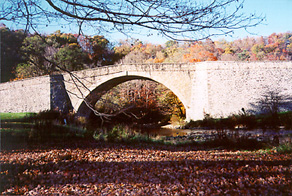 [color photograph of Casselman Bridge]