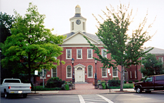 [color photograph of Talbot County Courthouse]