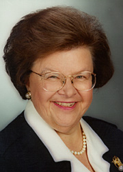 [photograph of Senator Mikulski]